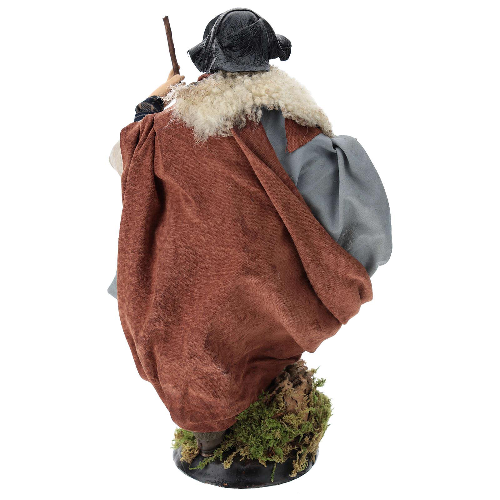 Neapolitan nativity figurine, shepherd with cane 30cm 4