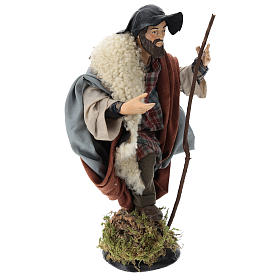 Neapolitan nativity figurine, shepherd with cane 30cm s4