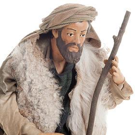 Neapolitan nativity figurine, shepherd with cane 30cm s2