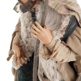 Neapolitan nativity figurine, shepherd with cane 30cm s3