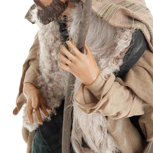 Neapolitan nativity figurine, shepherd with cane 30cm 3