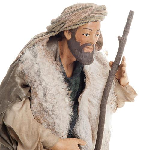 Neapolitan nativity figurine, shepherd with cane 30cm 5