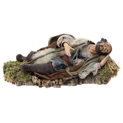 Neapolitan nativity figurine, resting traveler 30cm 1