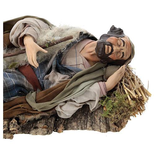 Neapolitan nativity figurine, resting traveler 30cm 2