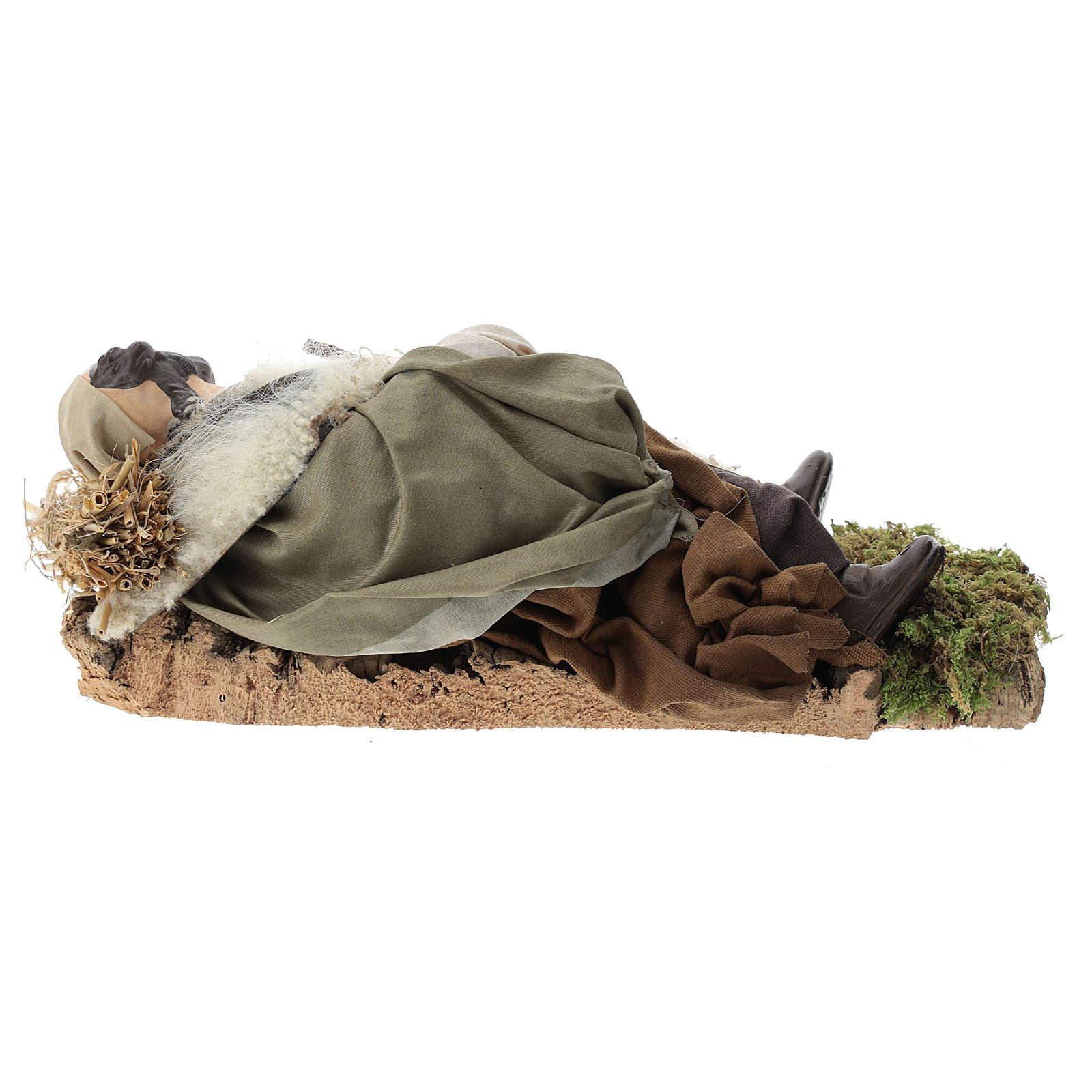 Neapolitan nativity figurine, resting traveler 30cm 4