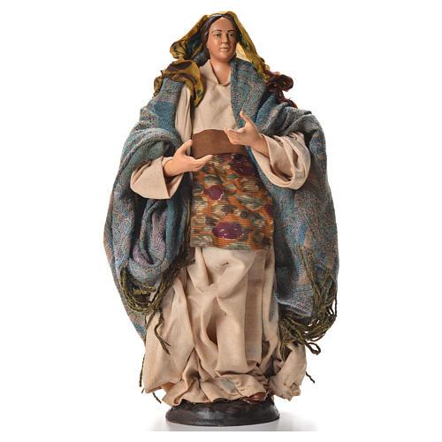 Neapolitan nativity figurine, pregnant woman 30cm 5