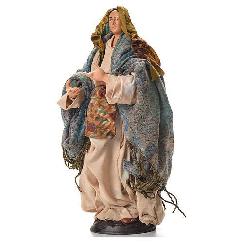 Neapolitan nativity figurine, pregnant woman 30cm 2