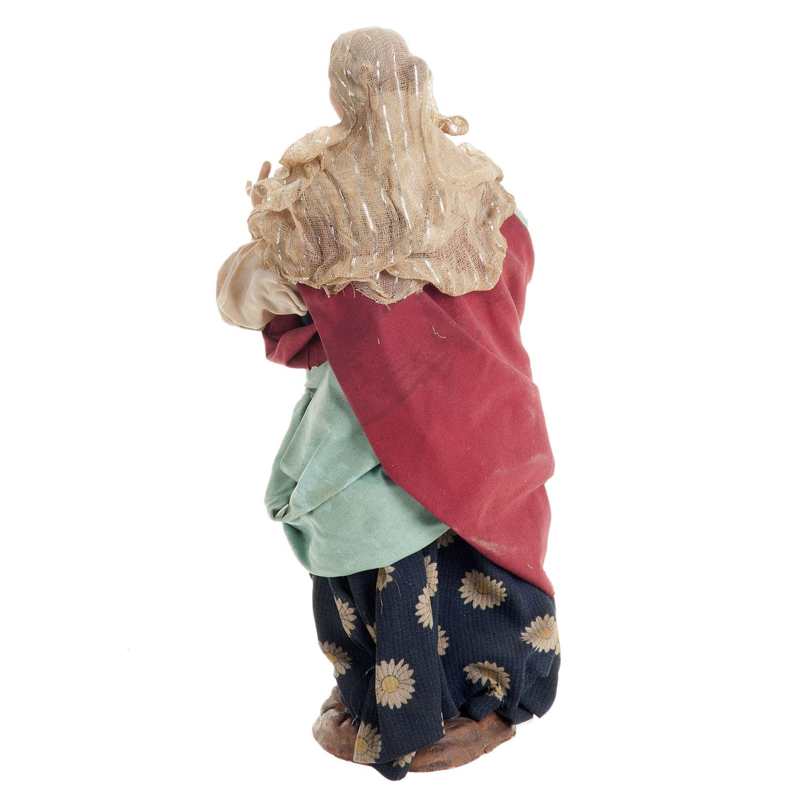 Santon femme enceinte 30 cm crèche Napolitaine 4