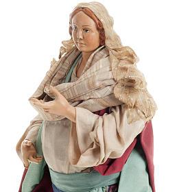 Santon femme enceinte 30 cm crèche Napolitaine s3