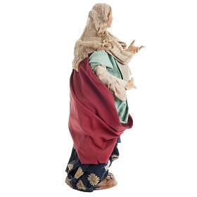 Santon femme enceinte 30 cm crèche Napolitaine s5