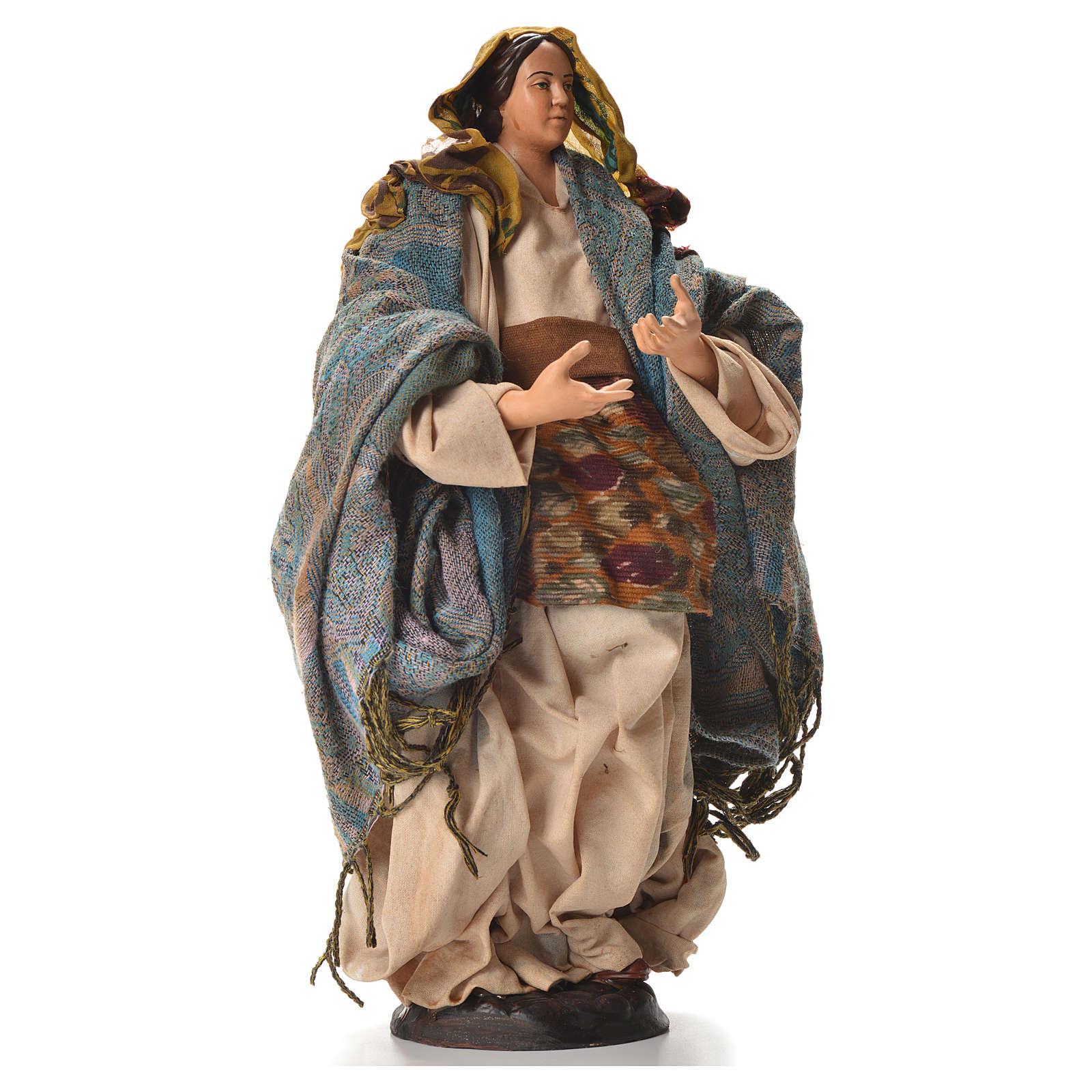 Neapolitan nativity figurine, pregnant woman 30cm 4