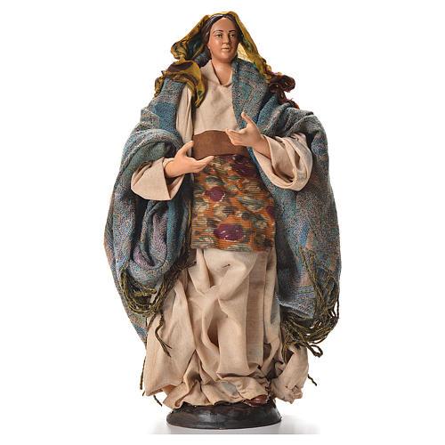 Neapolitan nativity figurine, pregnant woman 30cm 1
