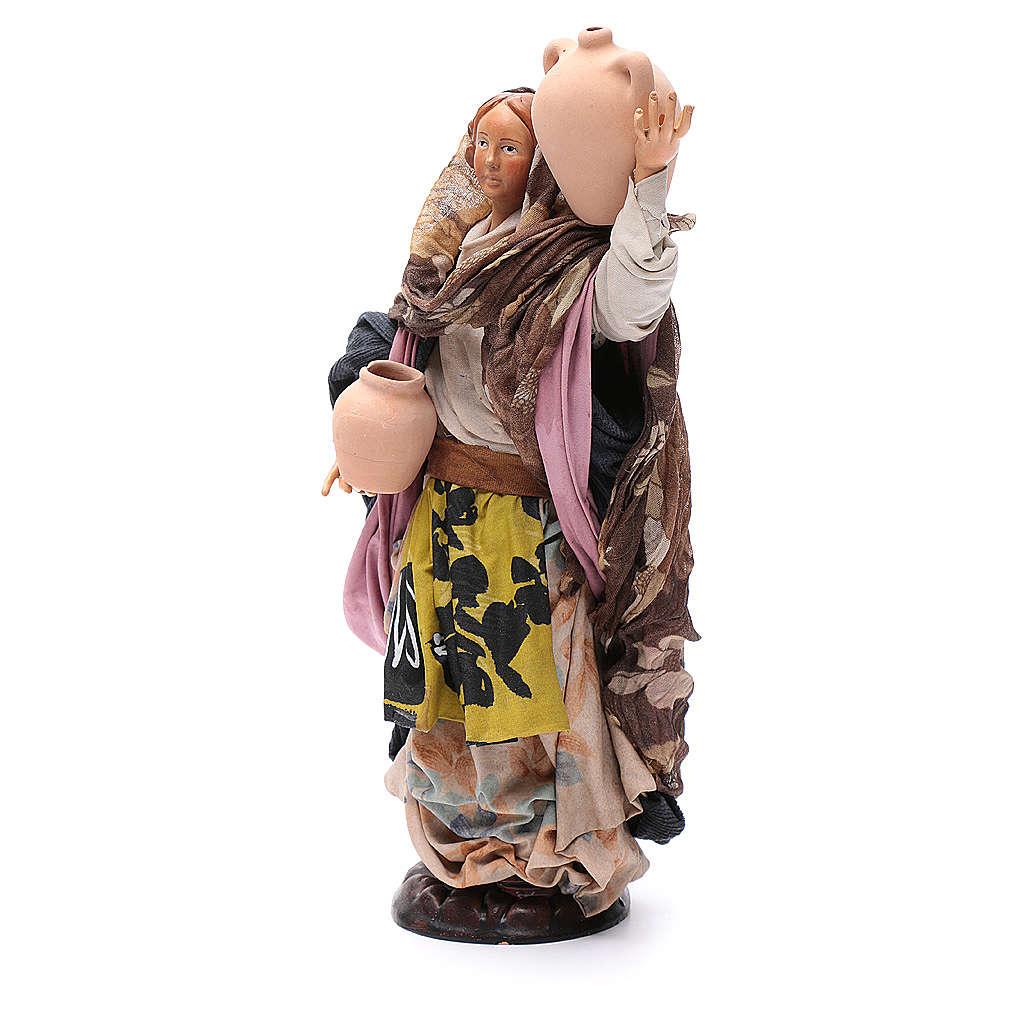 Santon femme avec pot 30 cm crèche Napolitaine 4