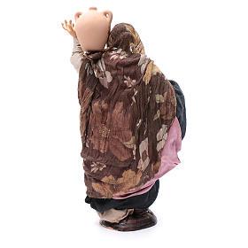 Santon femme avec pot 30 cm crèche Napolitaine s4