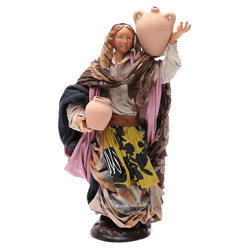 Santon femme avec pot 30 cm crèche Napolitaine 1