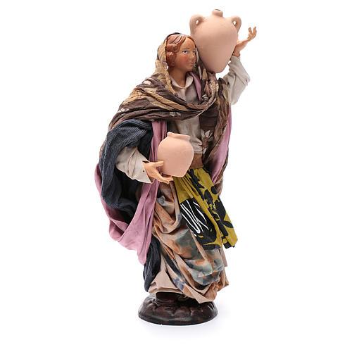 Santon femme avec pot 30 cm crèche Napolitaine 3