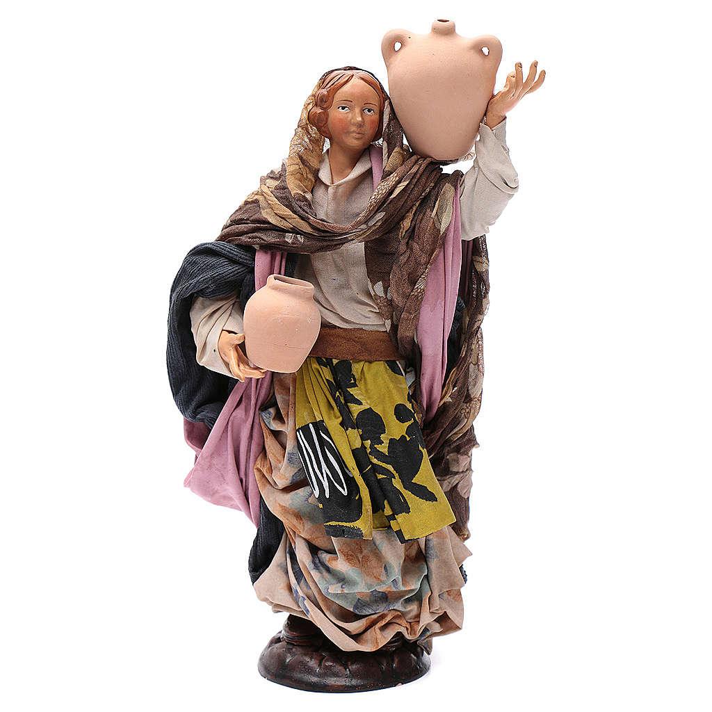 Neapolitan nativity figurine, woman with jug 30cm 4