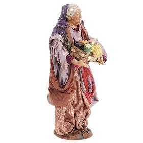 Donna con cesto di frutta 30 cm presepe Napoli s7