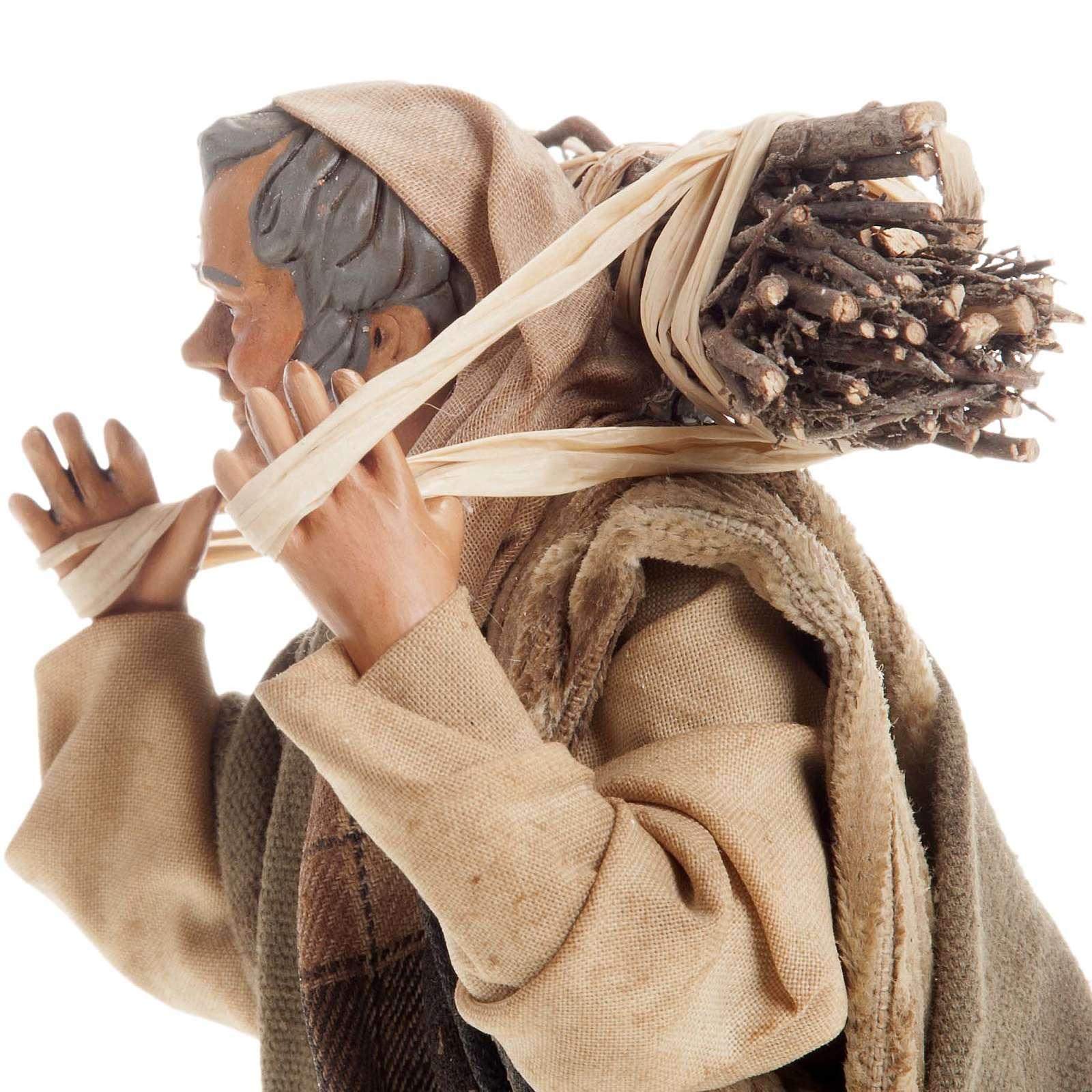 Neapolitan nativity figurine, woodman 18cm 4