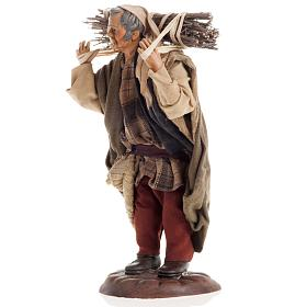 Neapolitan nativity figurine, woodman 18cm s3