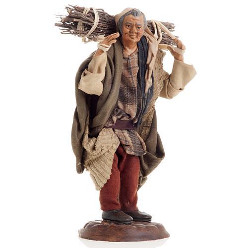 Neapolitan nativity figurine, woodman 18cm 1