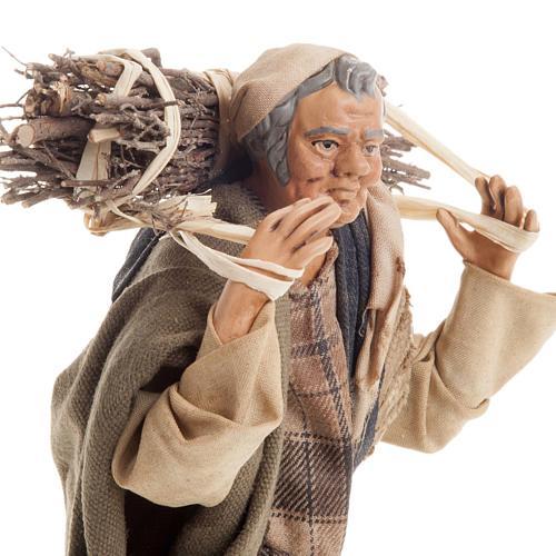 Neapolitan nativity figurine, woodman 18cm 2