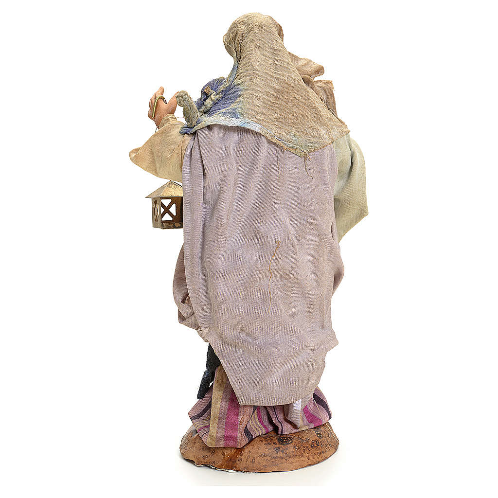 Donna con lanterna 18 cm presepe Napoli 4
