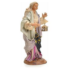 Donna con lanterna 18 cm presepe Napoli s2