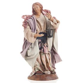 Neapolitan nativity figurine, woman with lantern 18cm s1