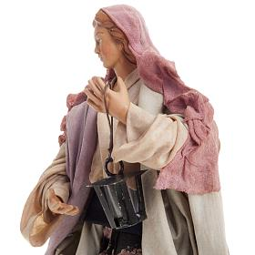 Neapolitan nativity figurine, woman with lantern 18cm s7