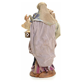 Neapolitan nativity figurine, woman with lantern 18cm s6