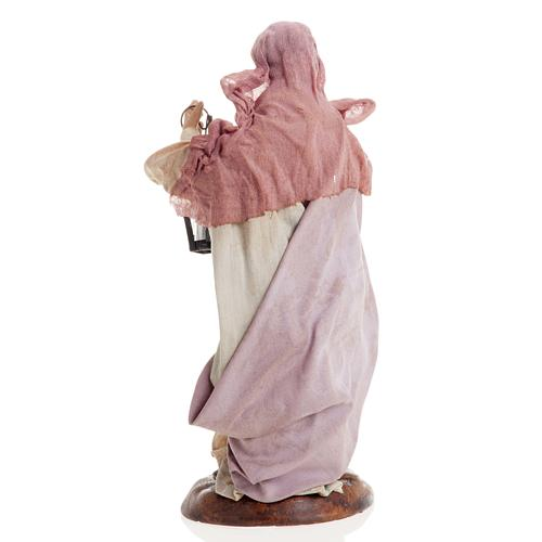 Neapolitan nativity figurine, woman with lantern 18cm 8