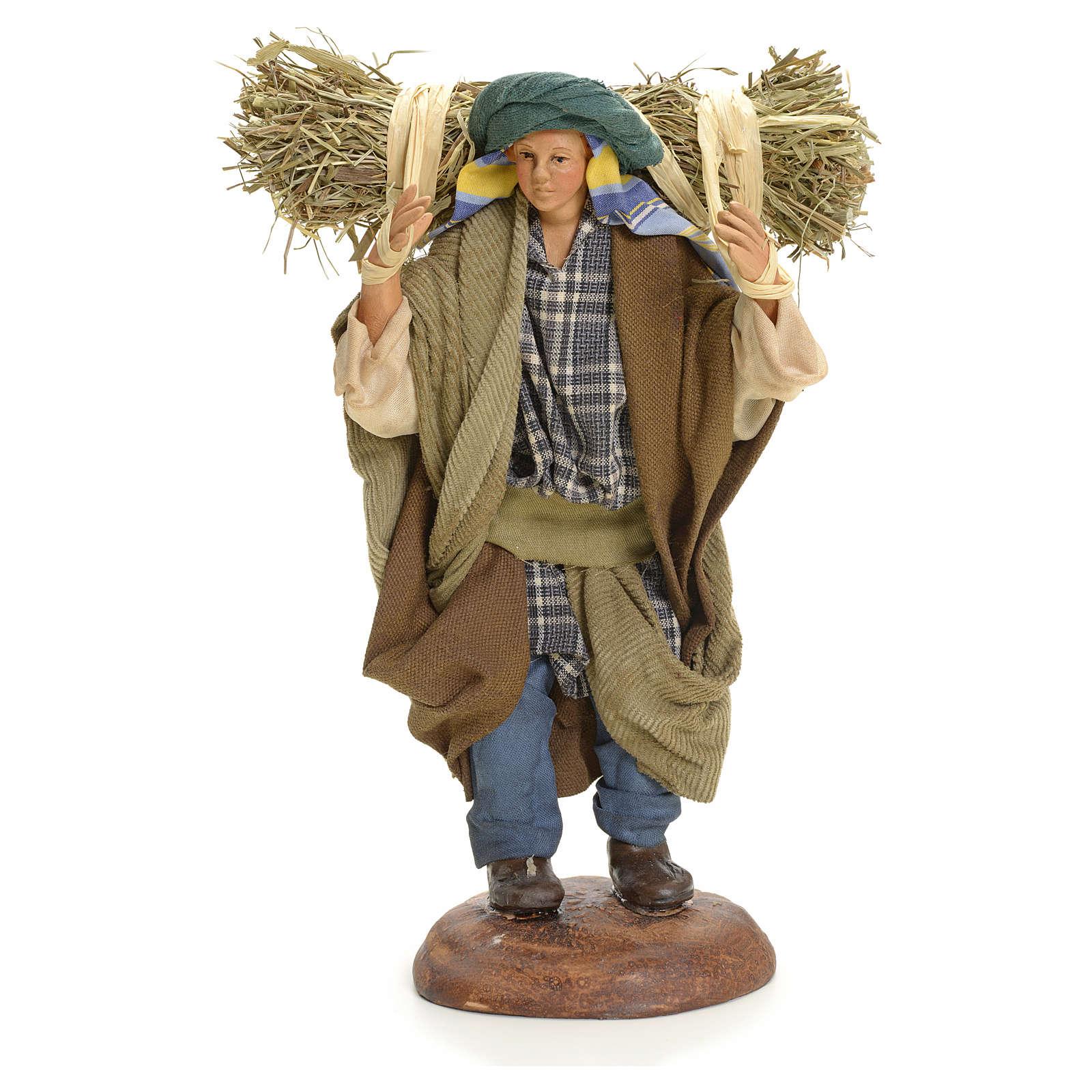 Neapolitan nativity figurine, peasant 18cm 4