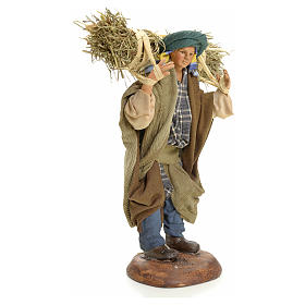 Neapolitan nativity figurine, peasant 18cm s5