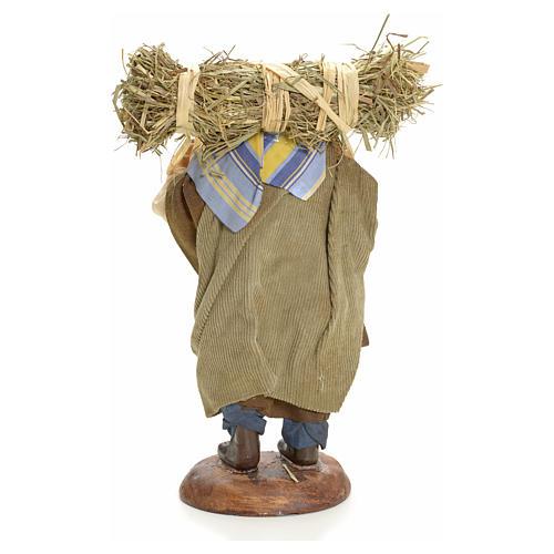 Campesino con paja 18 cm. belén napolitano 6