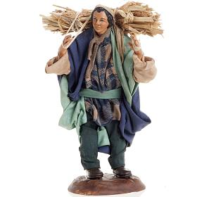Neapolitan nativity figurine, peasant 18cm s1