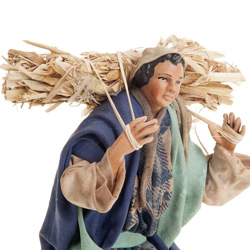 Neapolitan nativity figurine, peasant 18cm 3