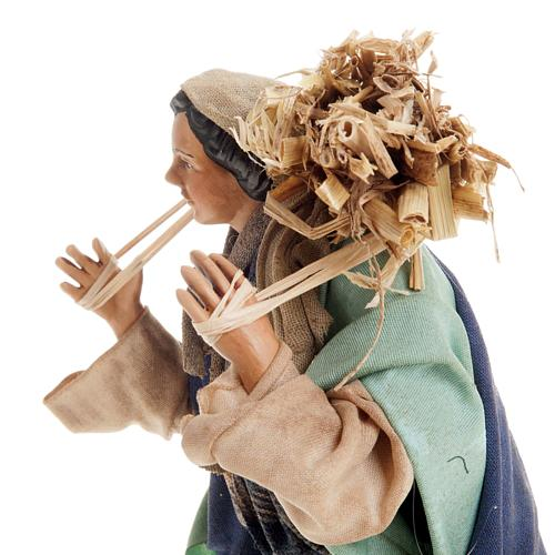Neapolitan nativity figurine, peasant 18cm 5
