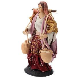 Neapolitan nativity figurine, female water carrier 18cm s3