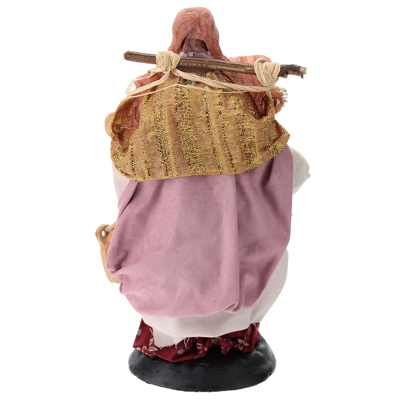 Neapolitan nativity figurine, female water carrier 18cm 4