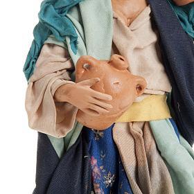 Neapolitan nativity figurine, female water carrier 18cm s4
