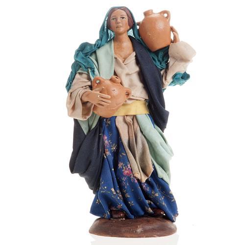 Neapolitan nativity figurine, female water carrier 18cm 1
