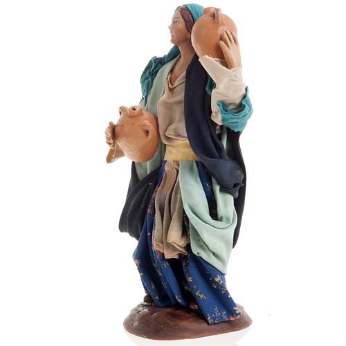 Neapolitan nativity figurine, female water carrier 18cm 3
