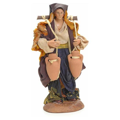 Neapolitan nativity figurine, female water carrier 18cm 6