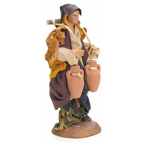 Neapolitan nativity figurine, female water carrier 18cm 7