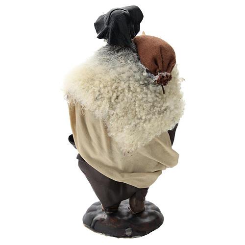 Neapolitan nativity figurine, bagpiper 18cm 5