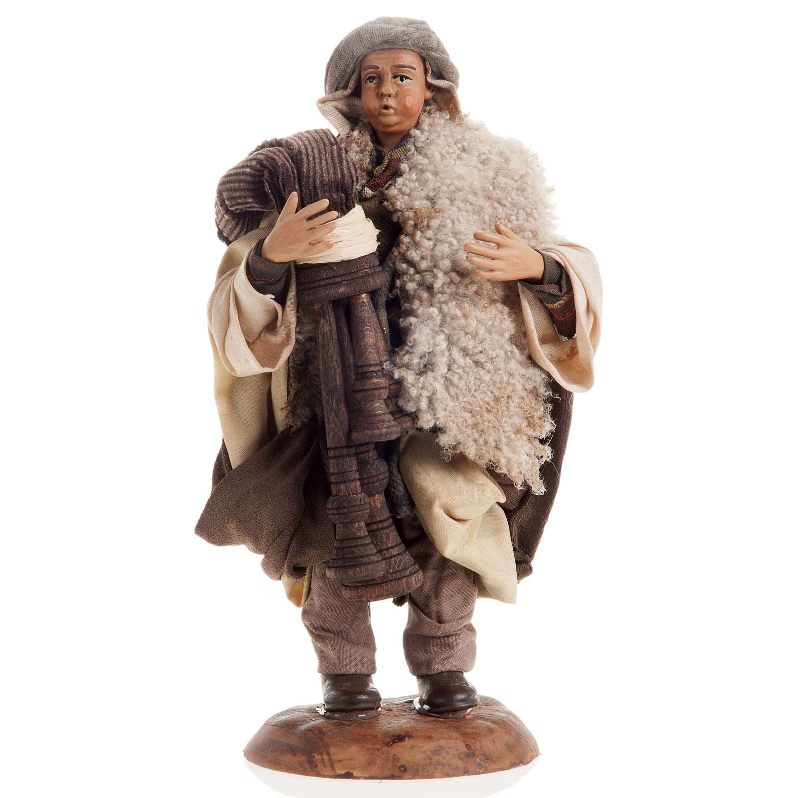 Neapolitan nativity figurine, bagpiper 18cm 4