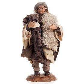 Neapolitan nativity figurine, bagpiper 18cm s1