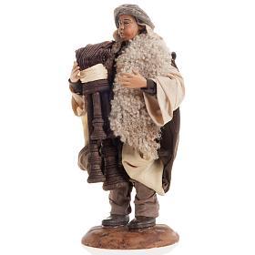 Neapolitan nativity figurine, bagpiper 18cm s3