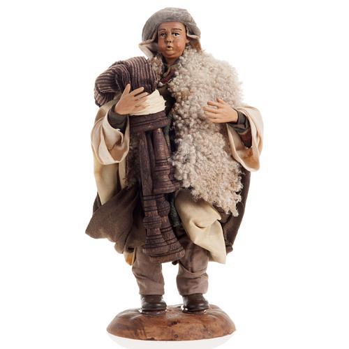 Neapolitan nativity figurine, bagpiper 18cm 1